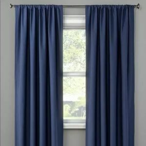 NWOT Project 62 Henna Blackout Washed Blue Curtain